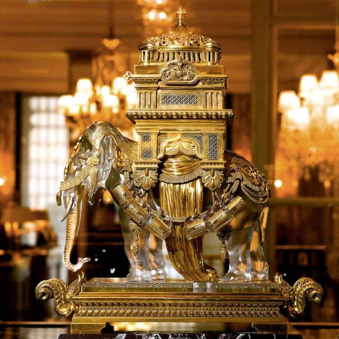 The property's Elephant Baccarat is one of the relics restored during the renovation. All photos courtesy of the hotel.