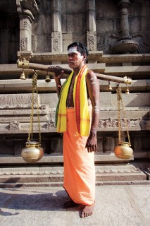 A Tamil Priest with Kavadi