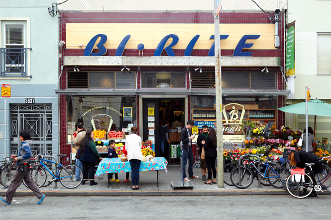 Bi-Rite, a fixture of the Mission District for three generations.
