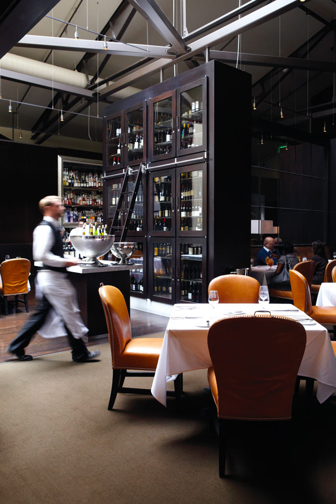 The dining room at Spruce, in the tony Pacific Heights neighborhood.
