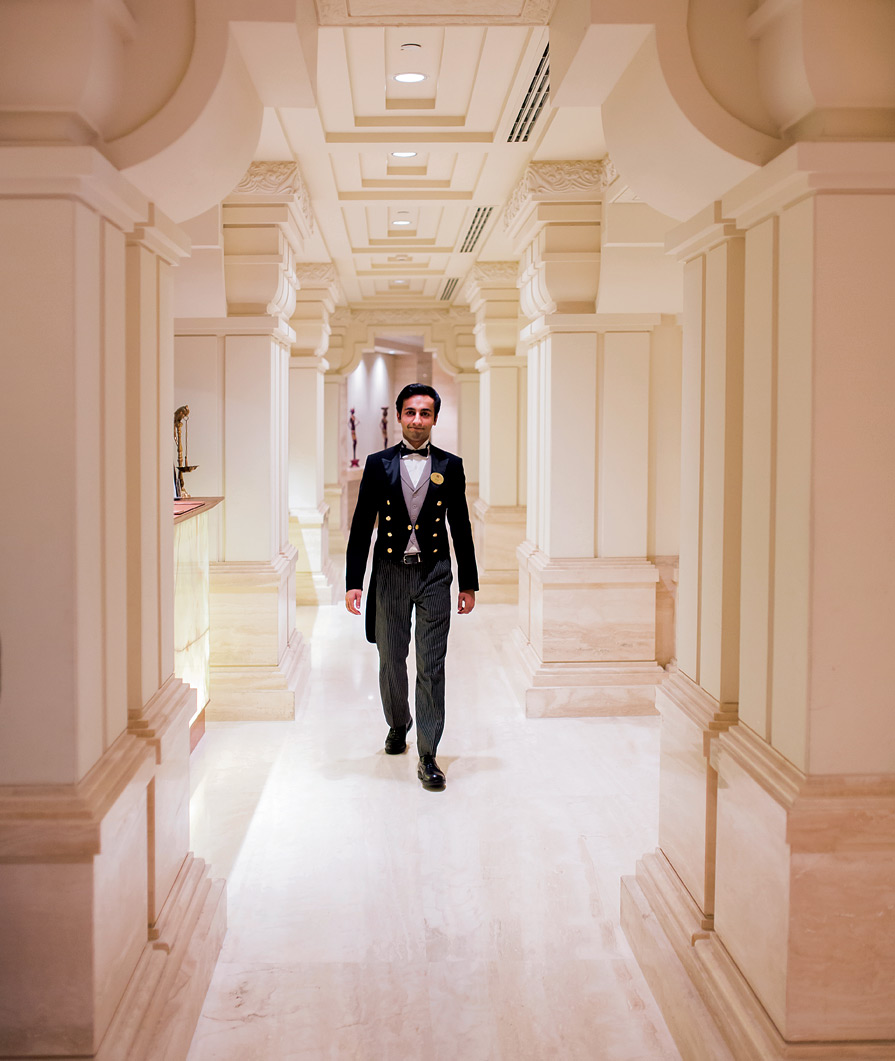 The ITC Grand Chola uses 12,000 square meters of Italian marble.