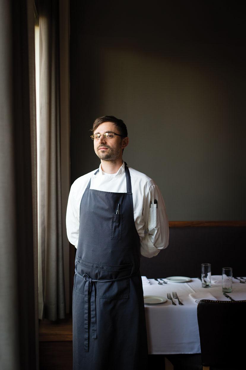Castagna's chef Justin Woodward.