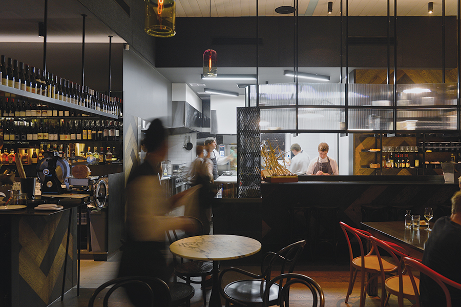 The kitchen at Cumulus Up, the new wine bar from chef Andrew McConnell.