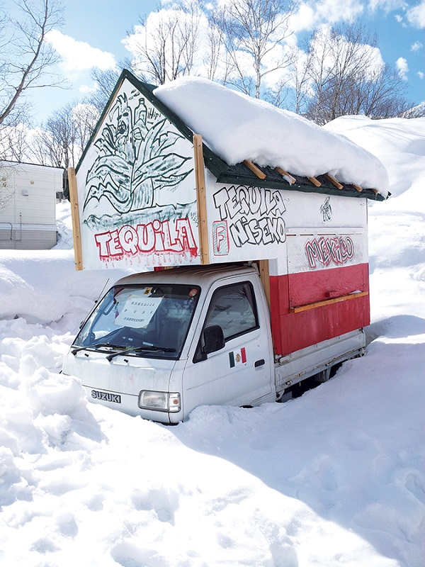 Food (and tequila) trucks add to Niseko's special character.