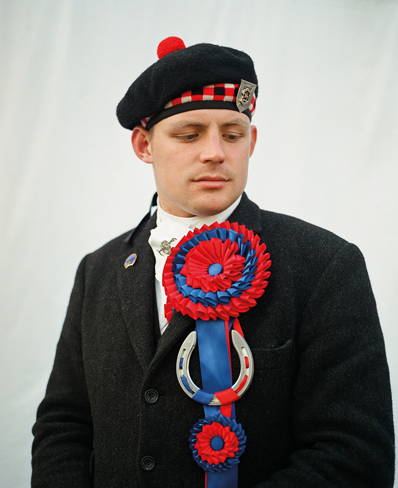 Garry Ramsay, the Right-hand Man (or assistant fo the town's flag bearer) at Jedburgh's 2014 Jethart Callant's Festival.