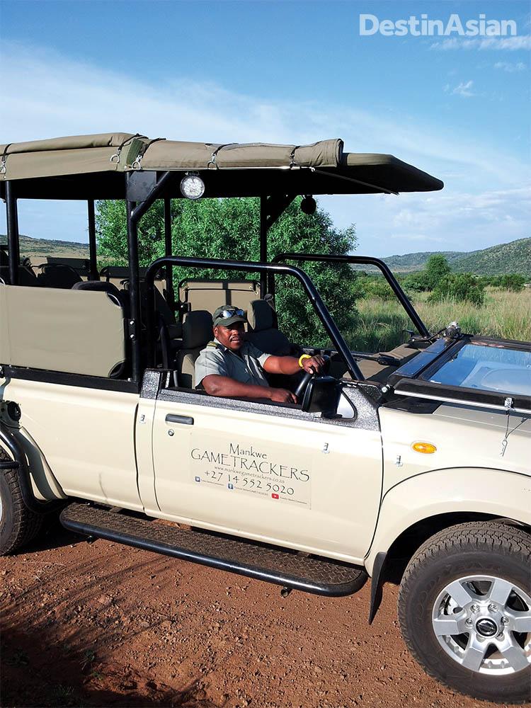 Safari guide Mr. Gift at Pilanesberg National Park.