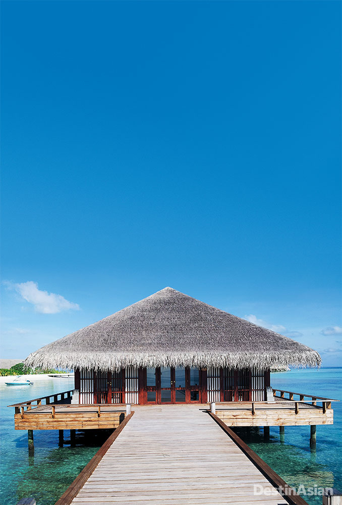 Stilted above Maamigili's lagoon, the Loama Art Gallery is the only space of its kinds in the Maldives.
