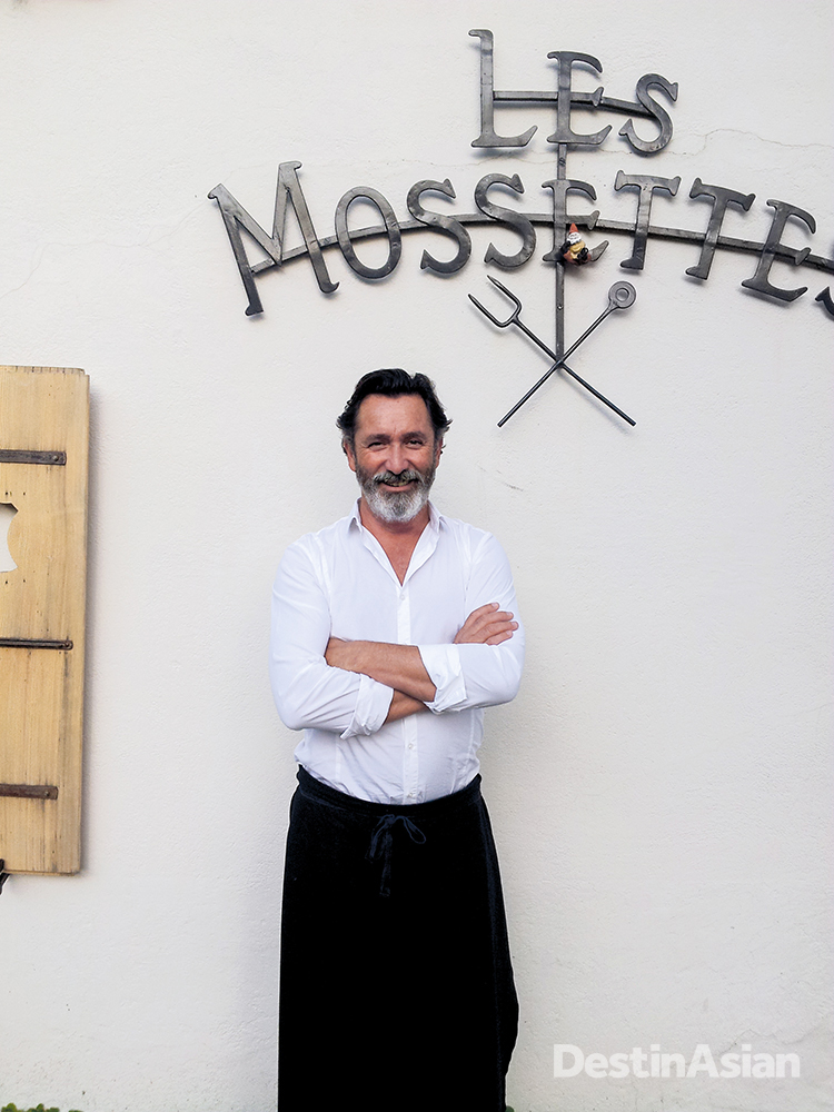 Georgy Blanchet outside La Pinte des Mossettes, the restaurant he runs with his wife, the talented chef Virginie Tinembart.