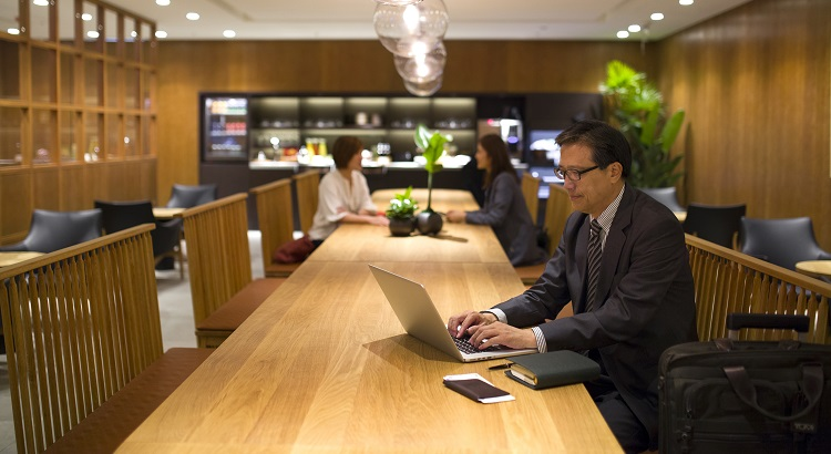The new Taipei lounge offers a comfortable environment with an emphasis on understated luxury.