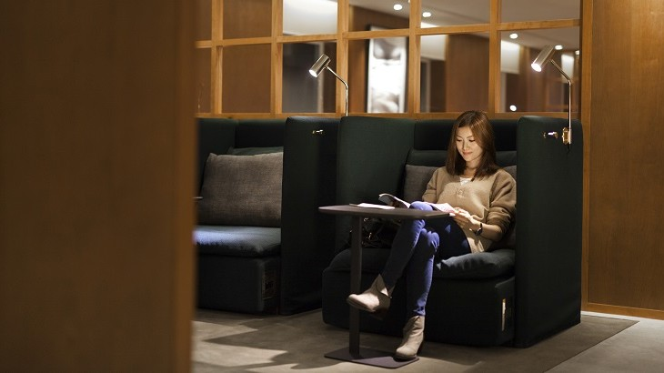 The Taipei lounge is the first to feature Cathay Pacific's new Solo Chair.