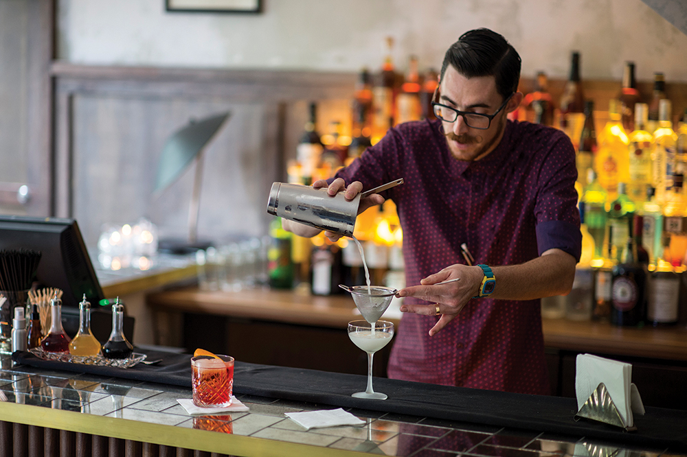 Bartender Toby Marshall at The Paddington.