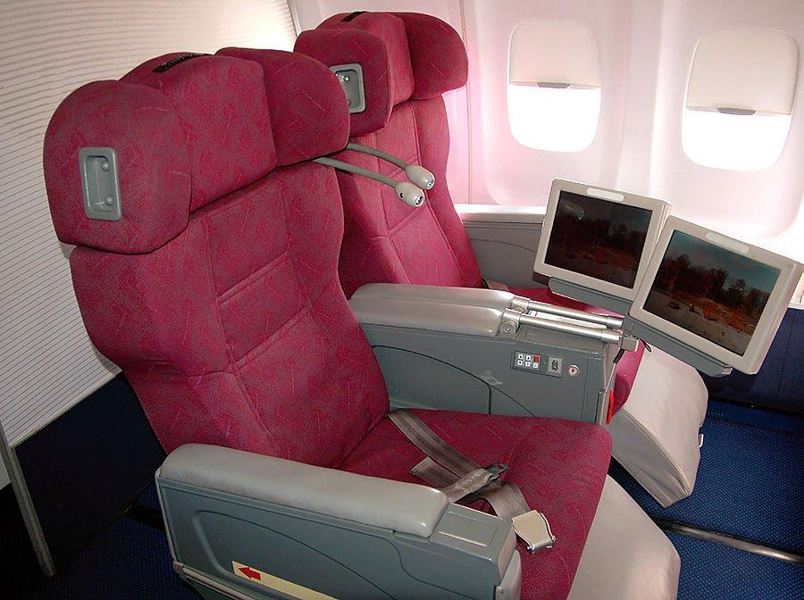 Air Koryo's business class cabin.