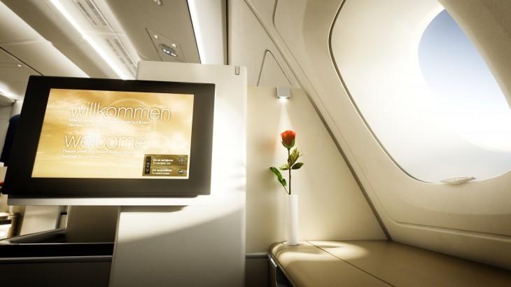 The Lufthansa First cabin.