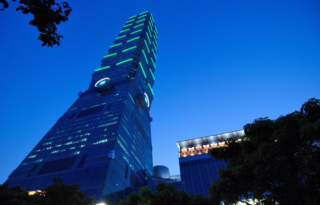 The iconic Tapei 101 building, photo by Debug.