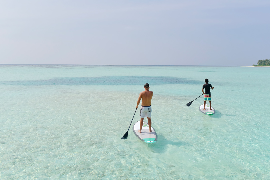 Guests of the resort can enjoy various water sports activities.