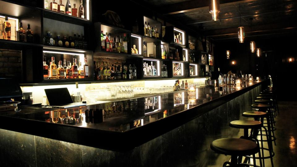 True to form, the bar also stocks an extensive line in whisky and bourbon.