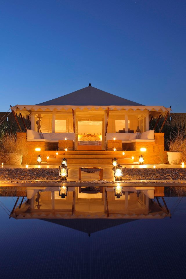 Jaisalmer is located 300 kilometers southeast of Jodhpur.
