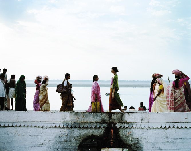 Pilgrim's progress: on the banks of the Ganges in Varansi one of India's holiest cities, little has changed since the photograph was taken a dozen years ago.