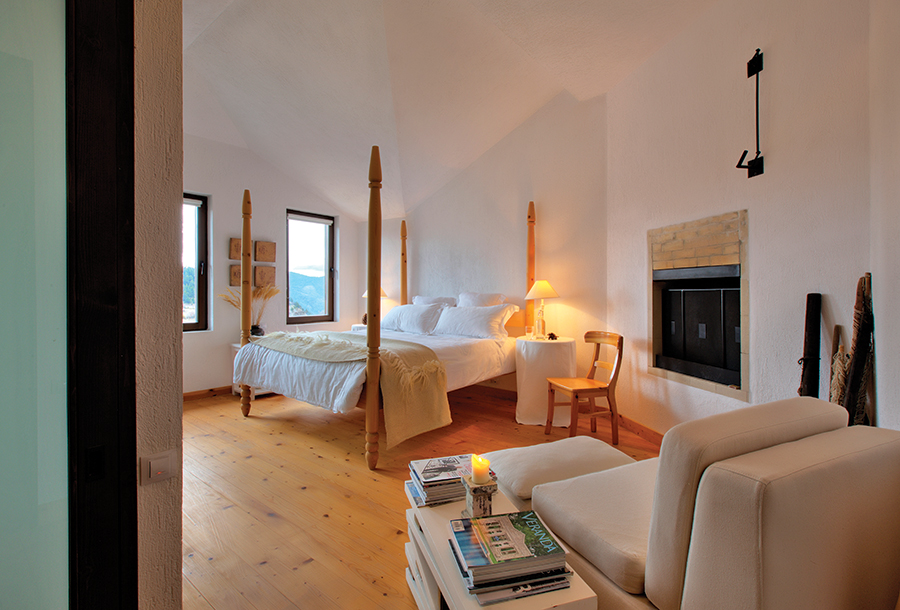 One of the six individually designed bedrooms at Villa Gella.