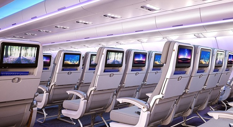For in-flight entertainment, passengers can watch HD and 3D films or programs on larger screens and connect their own devices.
