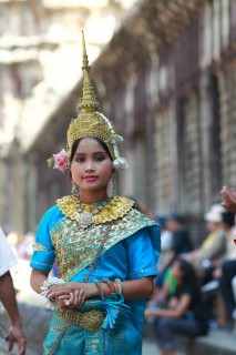 Woman in Traditional Khmer Garb