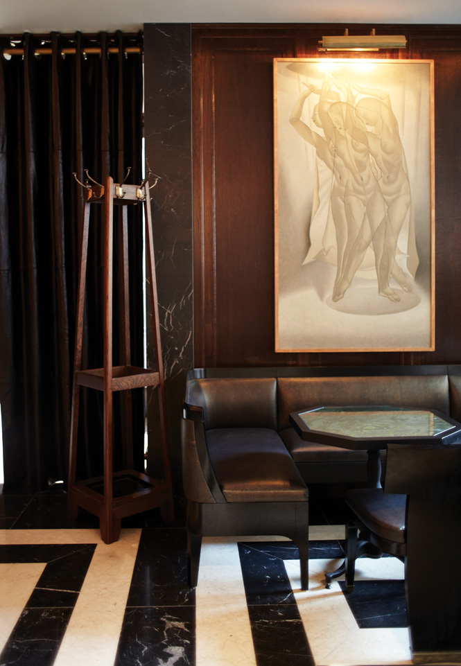 The rooms at the Delauney, a new brasserie in Covent Garden, bring to mind an Edwardian club.
