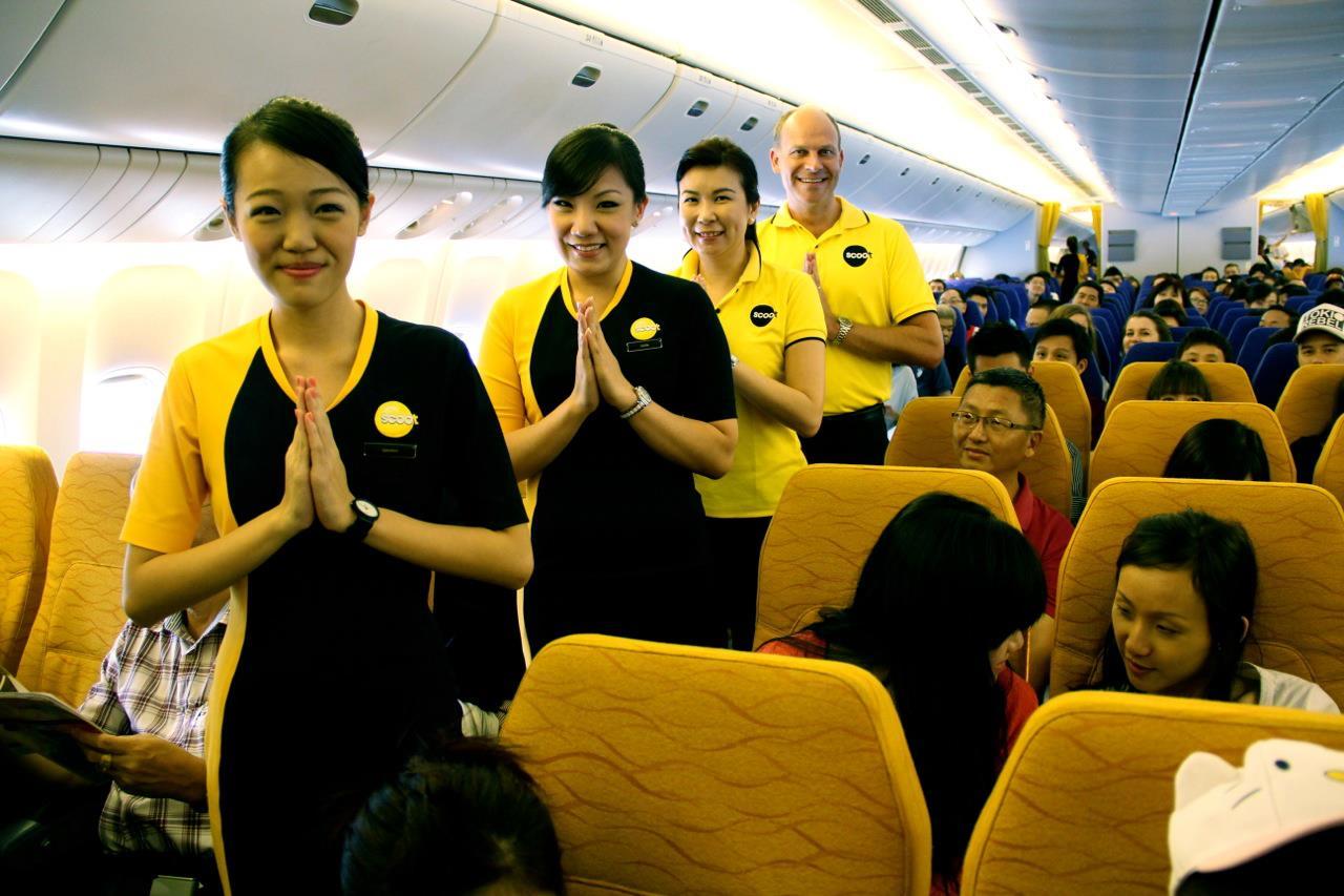 Scoot Air's inaugural flight to Bangkok.