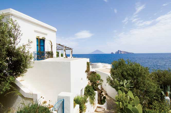 Panarea, one of Italy's gypset-frequented Aeolian Islands.
