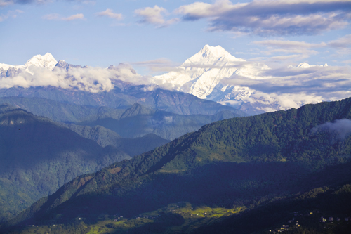 Kanchenjunga, the world's third-highest mountain, as seen from Gangtok's Tashi viewpoint