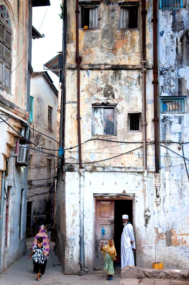 Amid the maze-like network of Stone Town's back streets.