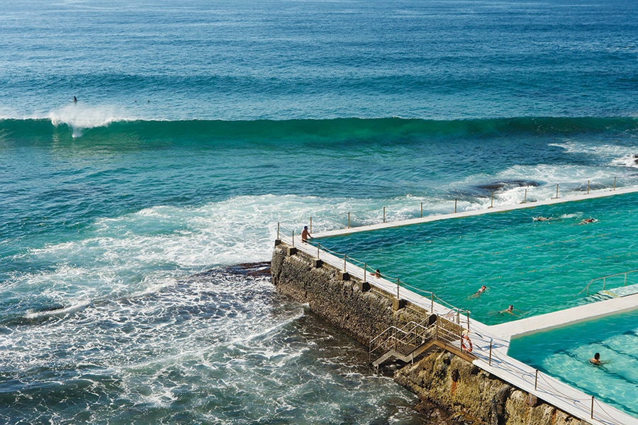 The Icebergs ocean pool at Bondi Beach, one of Sydney's most popular stretches of sand.