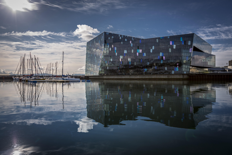 Harpa Concert Hall in Reykjavík, image by Corbis.