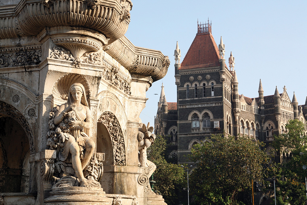 Bombay Heritage Walks takes guests past such historical landmarks as Flora Fountain, which has stood in the Fort district since 1864.