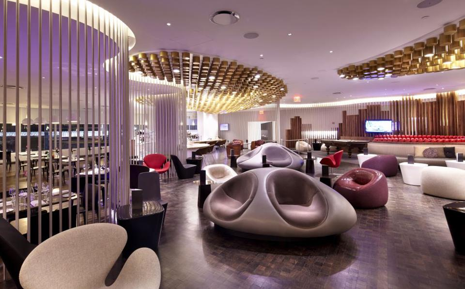 The Virgin Clubhouse at New York JFK Airport.
