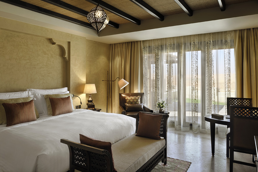 A villa bedroom.