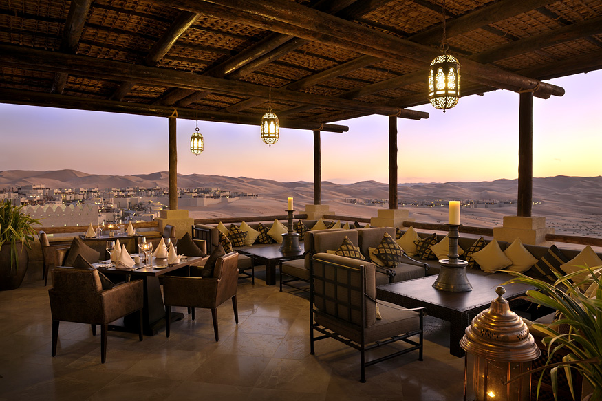 Desert views from Suhail restaurant.