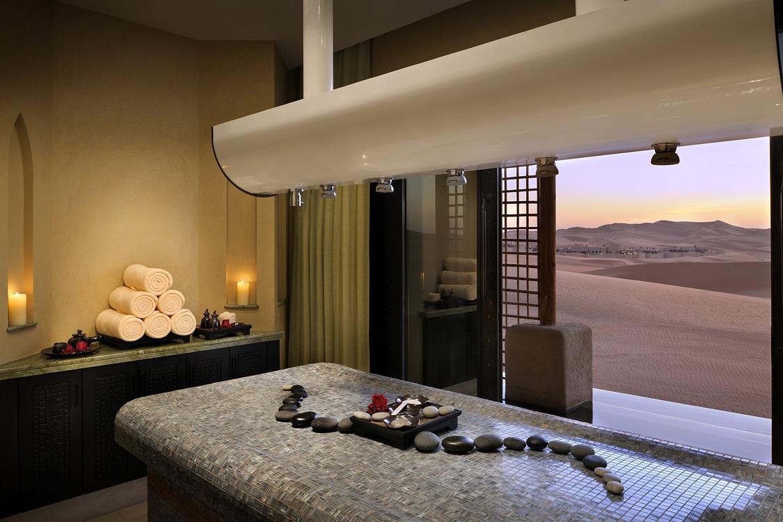 A spa treatment room.