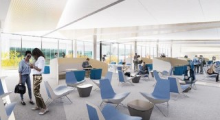 Laptop and smartphone charging points will be available around the terminal's lounge area.