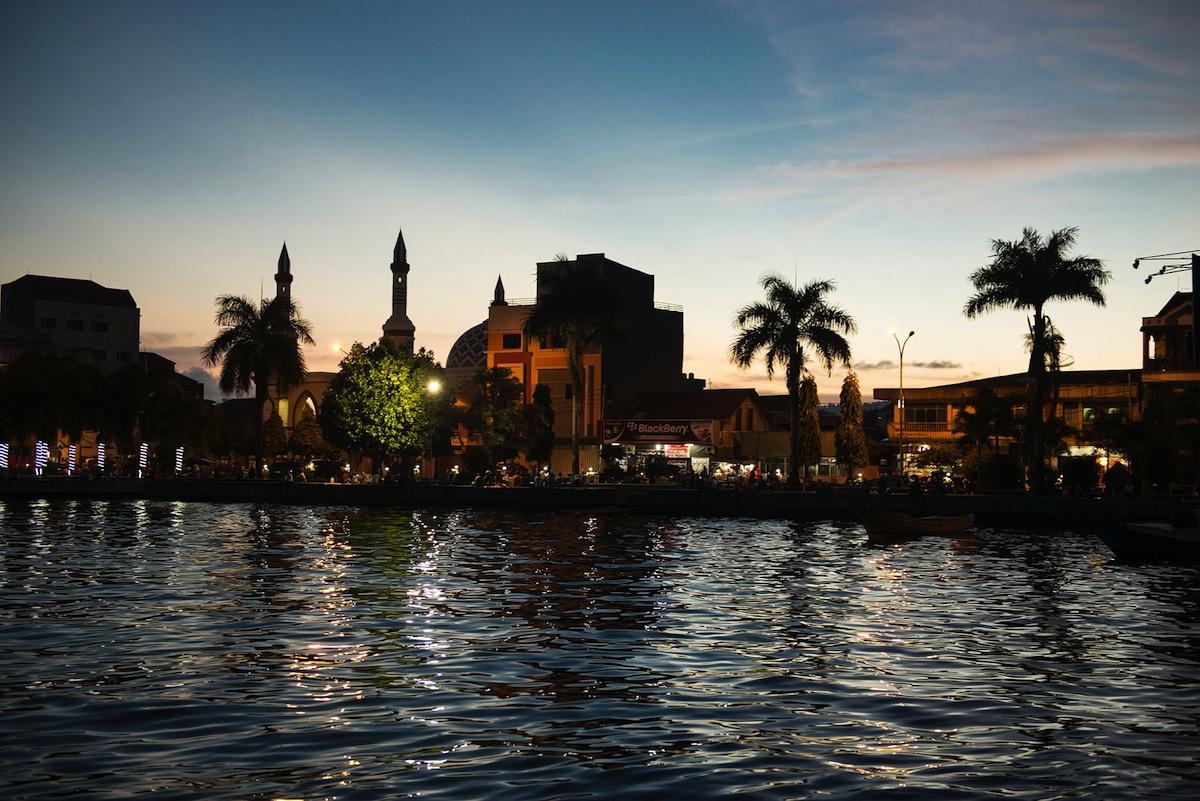 The promenade at dusk Ternate Island.
