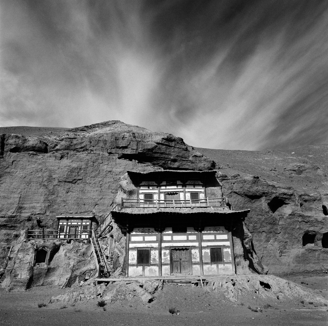 Part of the Mogao Caves site, where hundreds of rock-cut Buddhist grottoes are filled with frescoes and hand-molded clay sculptures.