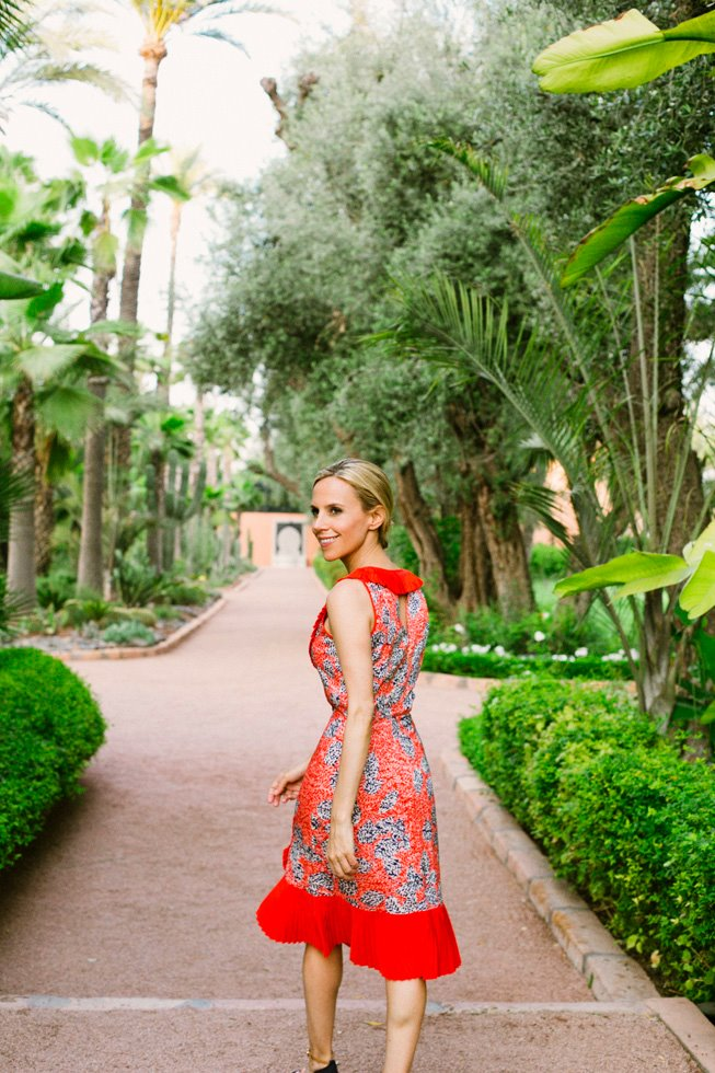 In Morocco. Image courtesy of Tory Burch.