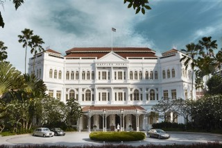 First opened in 1887, the Raffles hotel is one of Singapore's most iconic colonial buildings.