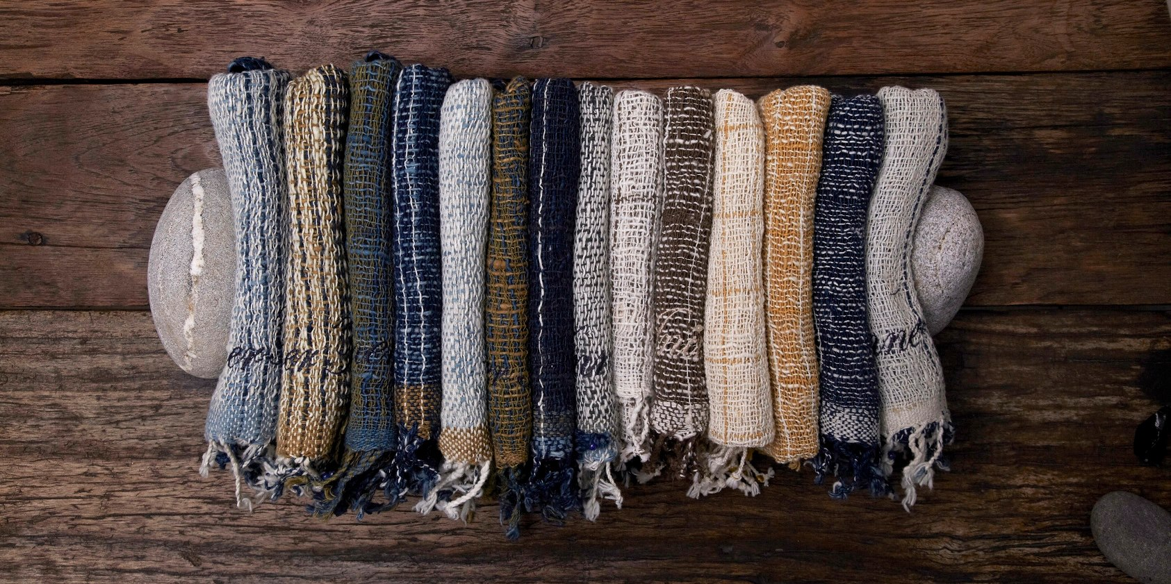 Each Apoccas product is made with hand looms.