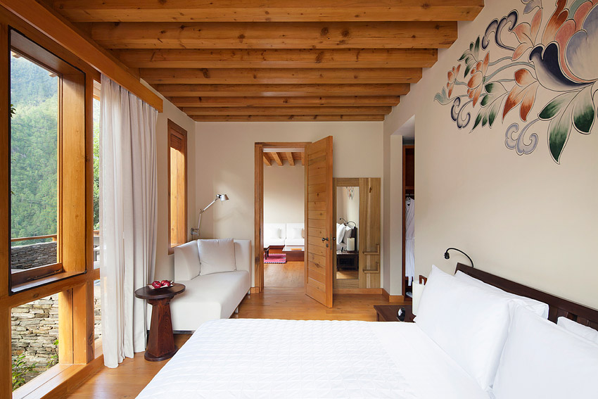 Uma's villas feature terraces and traditional wood stoves.