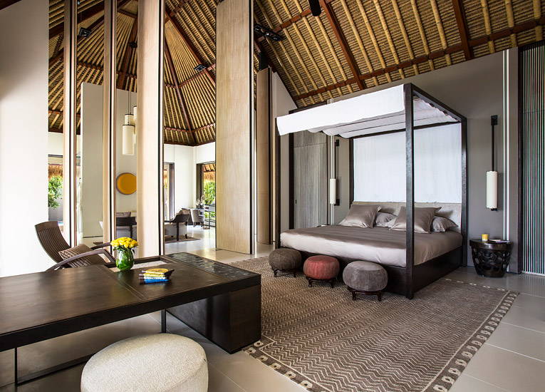 The villas combine local influences with contemporary clean design.