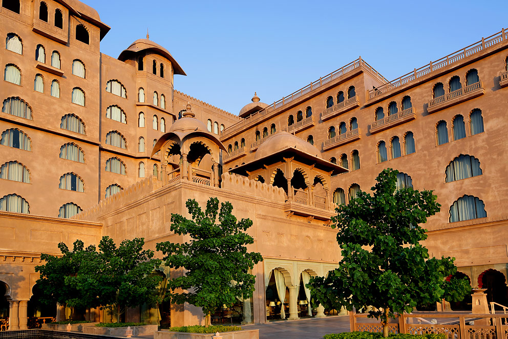 The Fairmont Jaipur is located in the Aravalli hills.