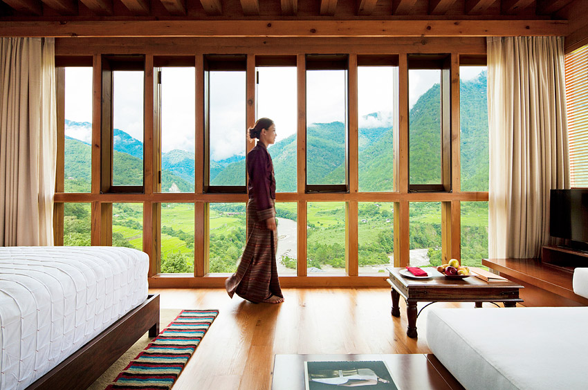 The nine rooms and two villas at the Uma by COMO come with local touches.