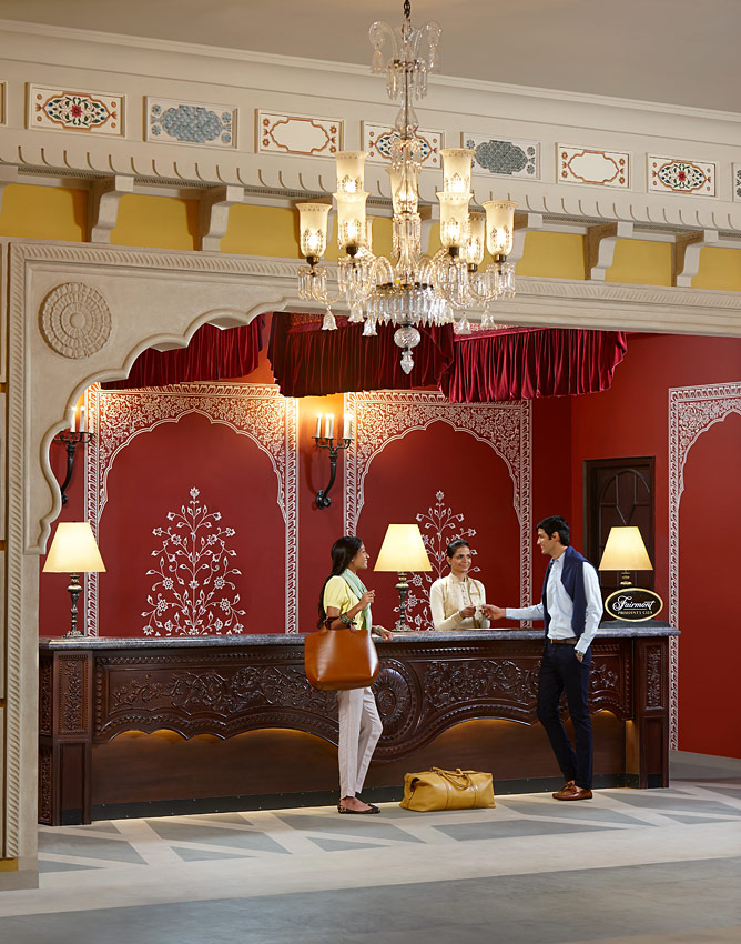 Fairmont's first Indian property is designed like a Rajput palace.