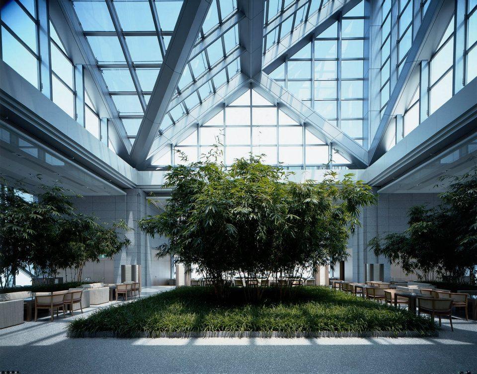 The Peak Lounge's glass atrium.