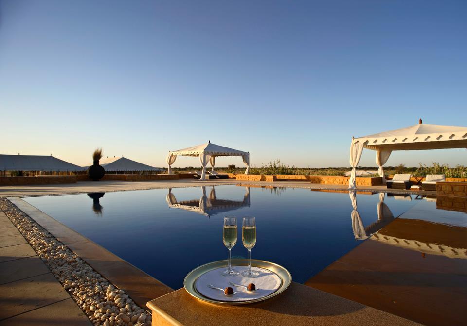 The Jaisalmer Desert Festival takes place on the golden sands of the Thar Desert every year.